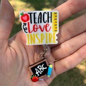 Teach Love Inspire Badge Holder